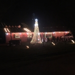 Milford christmas lights display